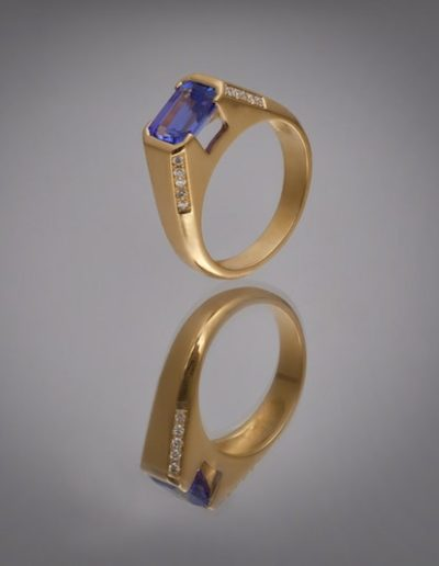 Bague Keops - Tanzanite & Diamants