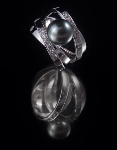 Bague Perles de Tahiti & Diamants