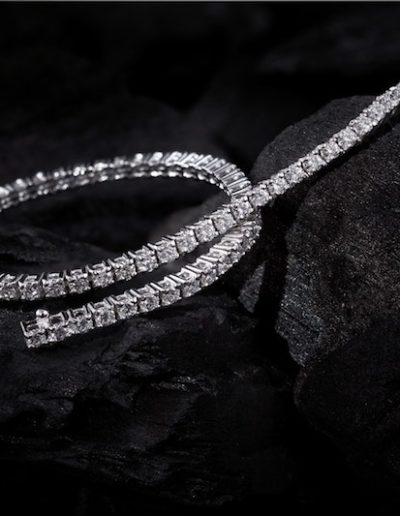 Bracelet Rivière Diamants & Or blanc