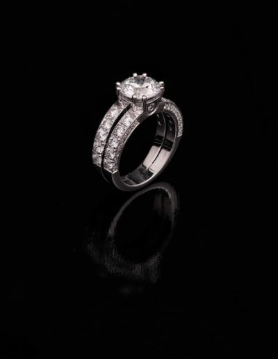 solitaire diamants double rang
